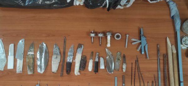 Φυλακές Τρικάλων: Ναρκωτικά, αυτοσχέδια όπλα και αποστακτήρες αλκοόλ στα κελιά