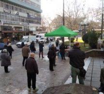 Τρίκαλα: rapid test στην κεντρική πλατεία