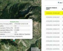 Σεισμός 3,2 Ρίχτερ – ανάμεσα Στουρναραίικα και Παλαιοκαρυά Πύλης