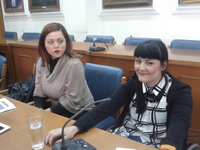 Η Κατερίνα Μπλέτσα (δεξιά)