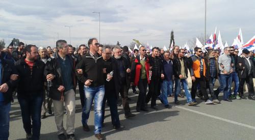 Νέο συλλαλητήριο στο μπλόκο της Νίκαιας