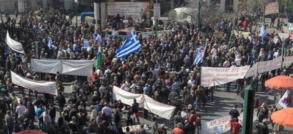 Ογκώδης συγκέντρωση αγροτών στην Αθήνα