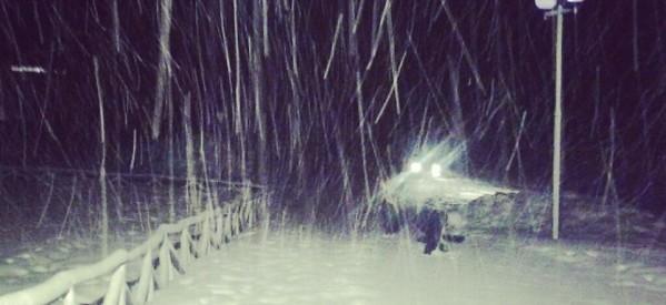 Χιονίζει τώρα στα ορεινά