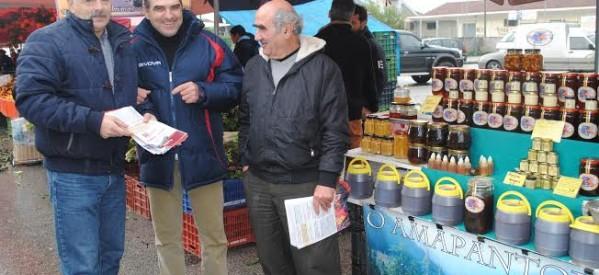 Στη λαϊκή αγορά των Σαραγίων ο Γιώργος Καΐκης