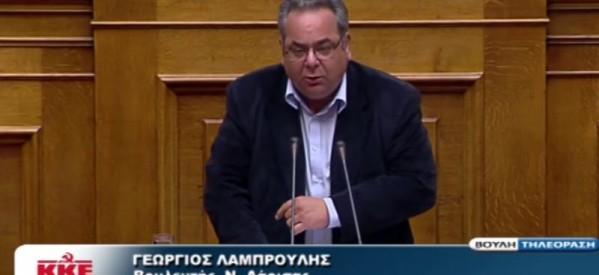 Επίκαιρη ερώτηση ΚΚΕ στη Βουλή για τα χαράτσια στην περίθαλψη και το κυνήγι της εφορίας