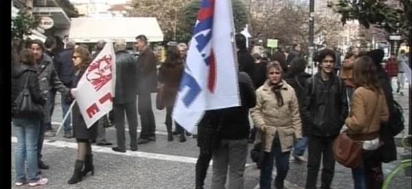 Πικετοφορία σήμερα από το ΠΑΜΕ, διότι η μεγάλη απεργία πλησιάζει