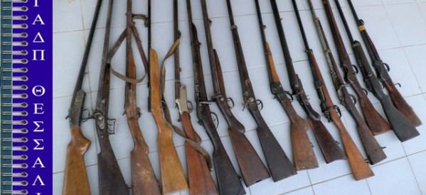 Δεκαπέντε κυνηγετικά όπλα κατείχε παρανόμως τρικαλινή