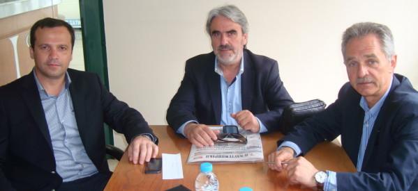 Στον φυσικό του χώρο, το Επιμελητήριο Τρικάλων ο υποψήφιος ευρωβουλευτής Θανάσης Λιούτας