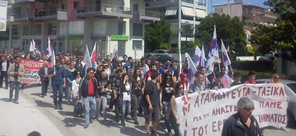 Μεγαλειώδης η πρωτομαγιάτικη απεργιακή συγκέντρωση του ΠΑΜΕ στα Τρίκαλα
