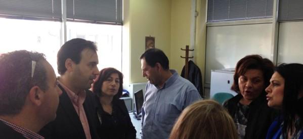 Σε επιχειρήσεις και ΟΑΕΔ συνεχίζει τις επισκέψεις του ο Δ. Παπαστεργίου