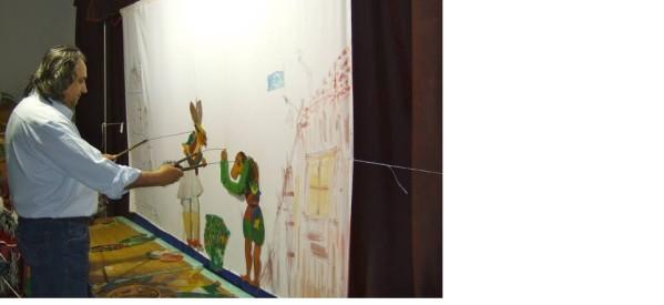 Θέατρο σκιών με τον Καραγκιόζη σε Κουτσομήλια και Ριζαριό
