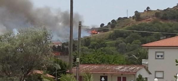 Μπαράζ πυρκαγιών σε Λάρισα και Καρδίτσα