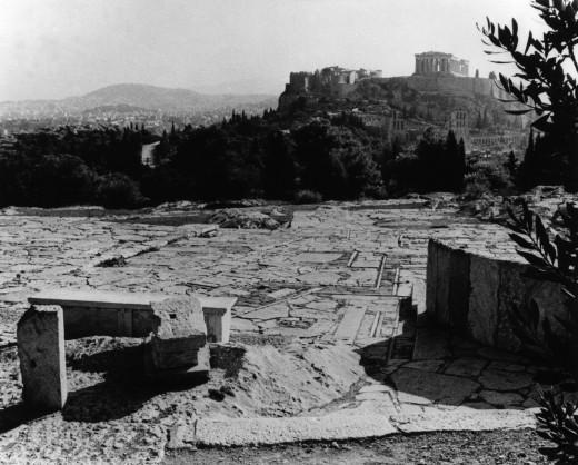 Διαμόρφωση του χώρου γύρω από την Ακρόπολη και τον Λόφο του Φιλοπάππου, 1954-1958