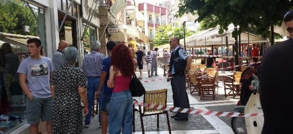 Ληστεία πριν λίγο στον Τύρναβο (photos)