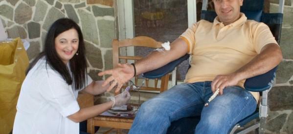 Με επιτυχία η αιμοδοσία στο Νεραϊδοχώρι από τον πολιτιστικό συλλογο