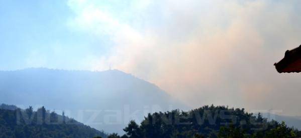 Μεγάλη πυρκαγιά σε εξέλιξη πάνω από την Πορτή (upd)