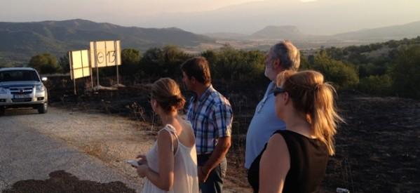 Ο ΣΥΡΙΖΑ στα καμμένα των ορεινών χωριών της Καλαμπάκας