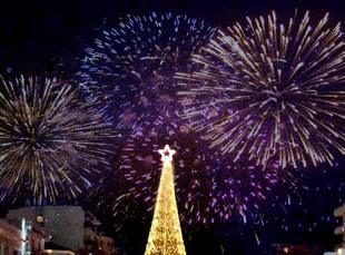 Υποδοχή της νέας χρονιάς στην κεντρική πλατεία
