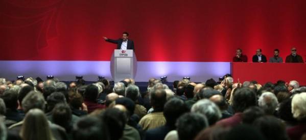 Διαμαρτυρία στο συνέδριο του ΣΥΡΙΖΑ για τον Γ. Οικονόμου