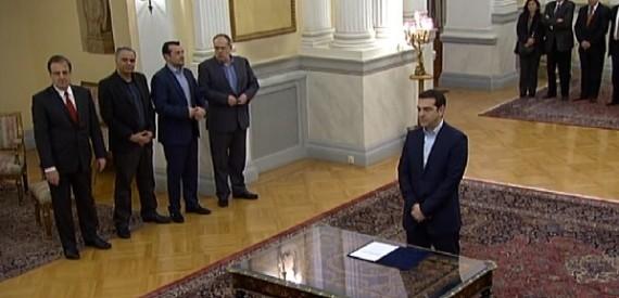 Ιστορική στιγμή: Ορκίστηκε Πρωθυπουργός ο Αλέξης Τσίπρας