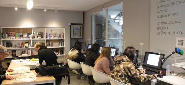 Μαθητές του 3ου  Λυκειου  στη Δημοτική Βιβλιοθήκη για τον διαγωνισμό PIZA