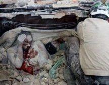 Εικόνα-σοκ από το Χαλέπι: Μητέρα αγκαλιά με τα παιδιά της, θαμμένοι και νεκροί στα ερείπια