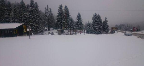 Eικόνες από το χιονοδρομικό κέντρο Περτουλίου