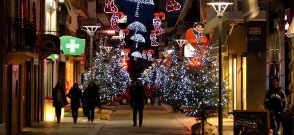 To Xριστουγεννιάτικο ωράριο στην Τρικαλινή αγορά