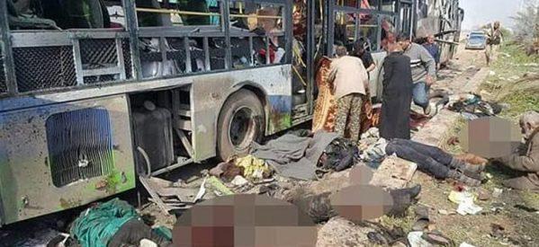 Εικόνες σοκ στη Συρία: Καμικάζι χτύπησε λεωφορεία με αμάχους