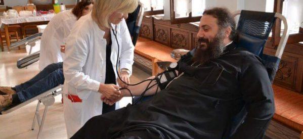 Με επιτυχία η αιμοδοσία της Ιεράς Μητροπόλεως Τρίκκης και Σταγών