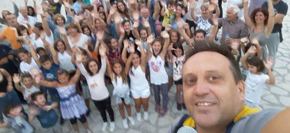 Η καθιερωμένη selfie από την εκδήλωση του Μαυρελιου