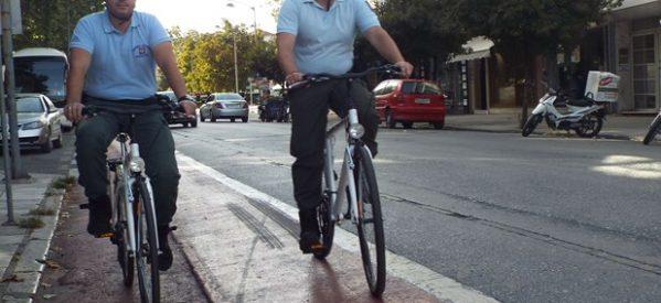 Με ποδήλατα και η Δημοτική Αστυνομία στα Τρίκαλα