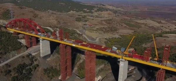 Παίρνει την τελική της μορφή η εντυπωσιακή γέφυρα  του τμήματος Τιθορέα – Δομοκός