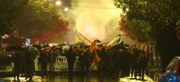 Μεγάλη αντιφασιστική πορεία στα Τρίκαλα απάντηση στη Χρυσή Αυγή