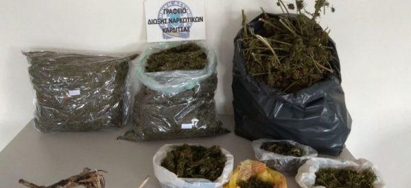 Σύλληψη 53χρονου στην Καρδίτσα για 6,5 κιλά κάνναβης