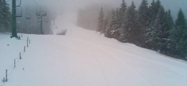 Φανταστικό τοπίο στο κατάλευκο χιονοδρομικό κέντρο Περτουλίου