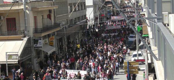 Μεγαλειώδες το συλλαλητήριο στον Βόλο – Οι Βολιώτες φώναξαν όχι στην καύση σκουπιδιών και στη μονάδα SRF