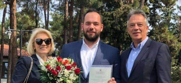 Περήφανος πατέρας ο Xρήστος Μιχαλάκης