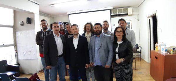 O υποψήφιος περιφερειάρχης Θεσσαλίας Δημήτρης Κουρέτας στο ΤΕΕ Τρικάλων