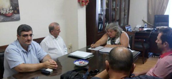 Επίσκεψη Σάκη Παπαδόπουλου  στις Διευθύνσεις Πρωτοβάθμιας και Δευτεροβάθμιας Εκπαίδευσης του νομού