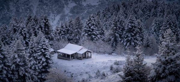 Μαγικές εικόνες του χιονιά στα ορεινά Τρίκαλα