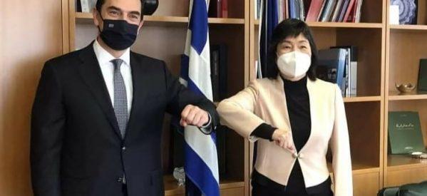 Συνάντηση με την Πρέσβειρα της Λαϊκής Δημοκρατίας της Κίνας, Zhang Qiyue είχε ο Κώστας Σκρέκας