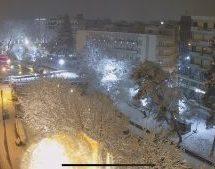 Η Μήδεια πλήττει και το Νομό Τρικάλων με πυκνές χιονοπτώσεις, ισχυρό παγετό και θυελλώδεις ανέμους