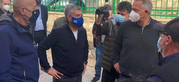 Αγοραστός-Μιχαλάκης στα σεισμόπληκτα χωριά του νομού