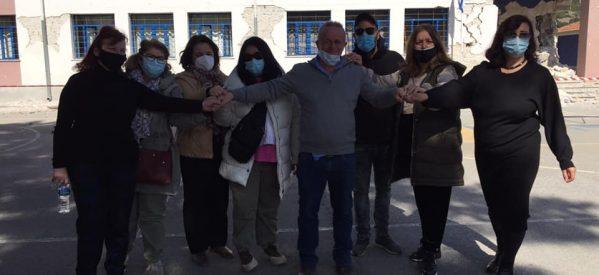 Αποχαιρετούμε το κατεστραμμένο σχολείο μας…ενωμένοι και δυνατοί ατενίζοντας το μέλλον με αισιοδοξία