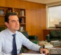Τηλεδιάσκεψη του Υπουργού Περιβάλλοντος και Ενέργειας, Κώστα Σκρέκα, με την Πανελλήνια Ομοσπονδία Ξενοδόχων