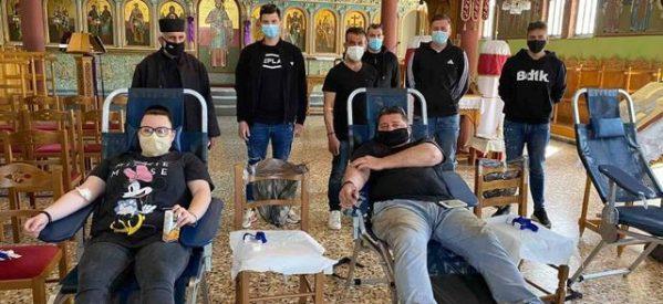 Έδωσαν αίμα οι κάτοικοι των Σερβωτών
