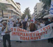 Με συνθήματα και μουσικές η πορεία Ειρήνης στα Τρίκαλα