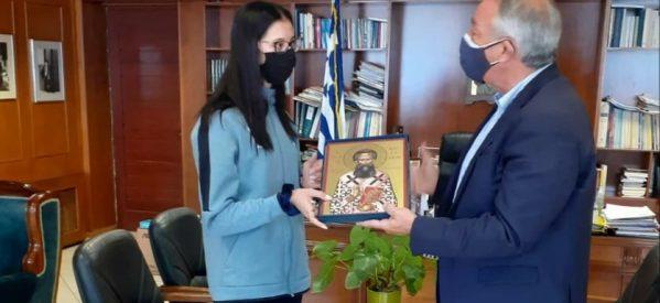 Χρήστος Μιχαλάκης : Με τις ευχές ενός ολόκληρου Νομού στους Ολυμπιακούς η Φένια Τζέλη
