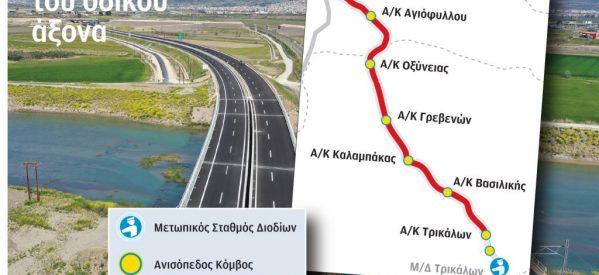 Ε65 : Tο βόρειο τμήμα περιλαμβάνει  20 γέφυρες, δύο σήραγγες  και 6 ανισόπεδους κόμβους (Βασιλική, Καλαμπάκα, Οξύνεια, Αγιόφυλλο,Γρεβενά, Καρπερό και Εγνατία).